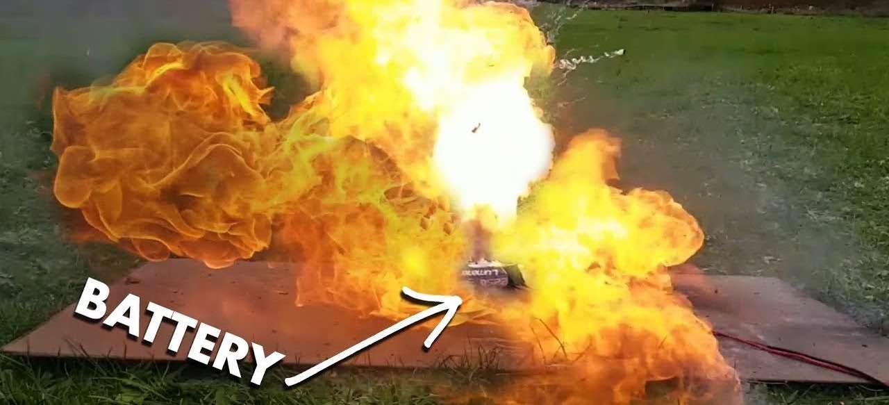 lithium battery exploding