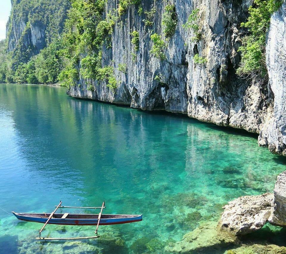 Crystal clear water of Seram Island Mollucas.